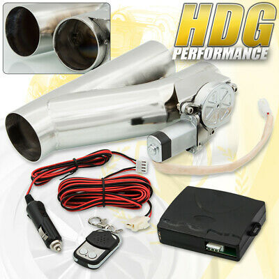 $ CDN112.67 • Buy 3  76mm Electric Exhaust Catback/Downpipe Cut Out Valve System Kit With Remote