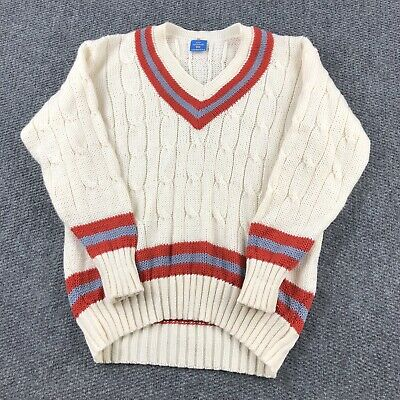 $120.40 • Buy Rochfords Cable Knit Tennis Cricket V Neck Pure WOOL Sweater Size 50 Preppy