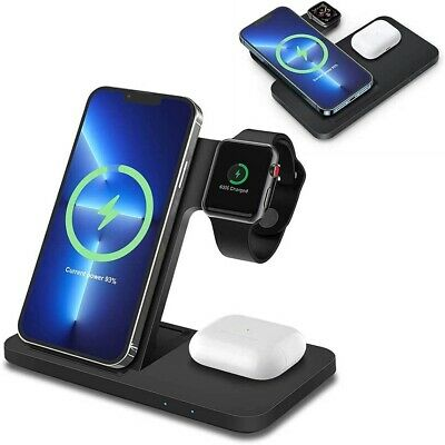AU22.99 • Buy 3 In 1 Wireless Charger Dock Charging Station For Apple Watch IPhone 12 11 XS 8+