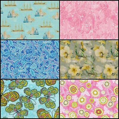 AU5 • Buy A. Fat Quarter FQ Variety For Patchwork Quilting Craft Fabrics 100% Cotton