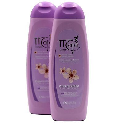 $28 • Buy 2 Pack Maja Plum Blosson Perfumed Body Lotion Delicately Scented Extra Dry Skin