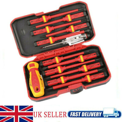 £17.28 • Buy 13pc Electricians Hand Screwdriver Set Tool 1000V Electrical Fully Insulated Kit