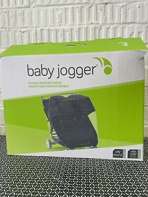 £35 • Buy BabyJogger Double  Weather Shield Pushchair Rain Cover City Mini 2 Double & City