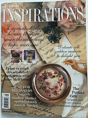 £9.99 • Buy Classic Inspirations Issue No. 35  2002 Needlework Magazine Embroidery Used