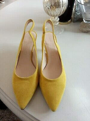 £29 • Buy Kennel Schmenger Size 4.5 All Leather And Suede Slingback Kitten Heels,NEW