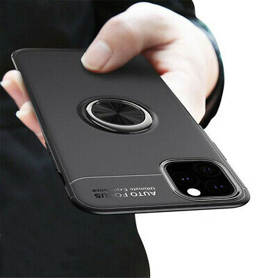 AU6.22 • Buy Magnetic Case Cover With Ring Holder Buckle For IPhone 12 11 XR XS X 8 Plus 7 6S