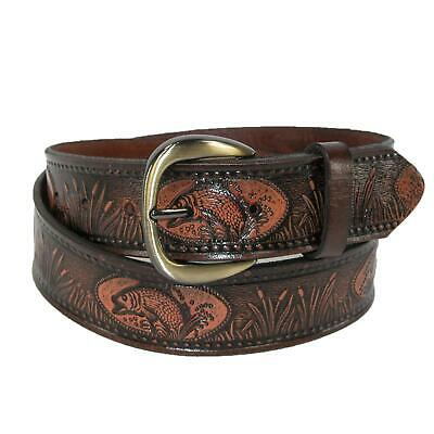 $25.94 • Buy New Hickory Creek Men's Leather Fish Embossed Bridle Belt