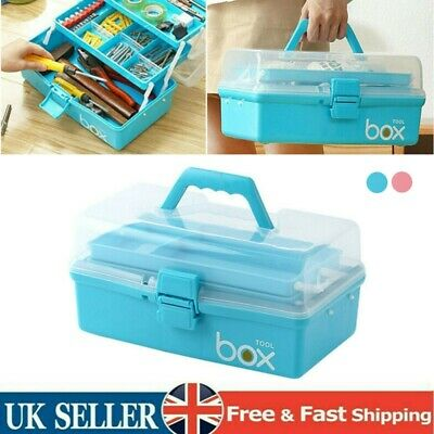 £10.59 • Buy Handy Plastic 3 Layers Health Pill Medicine Chest First Aid Kit Case Storage Box