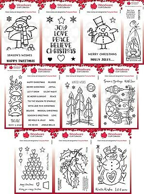 £6.25 • Buy Woodware Festive Clear Stamps - By Francoise Read - Creative Expression
