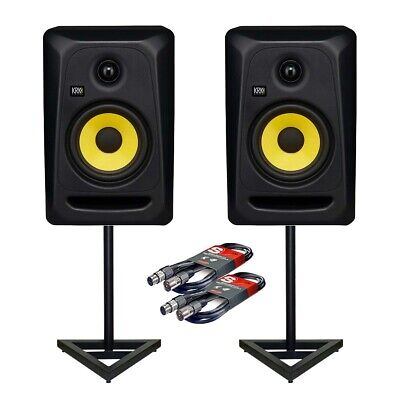 £447 • Buy KRK Rokit RP8 G3 Classic 8 (Pair) W/ Floor Stands And Cables Bundle Deal