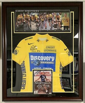 £436.31 • Buy Lance Armstrong Signed SI Nike Jersey Tour De France Cycling Auto PSA/DNA Framed
