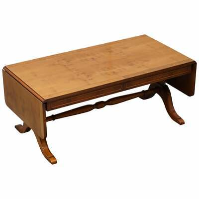 £1350 • Buy Bevan Funnell Extending Burr Yew Wood Coffee Table Matching End Table Available