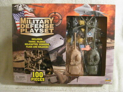 $11.99 • Buy Imperial Toys Military Defense Playset Tanks Planes Figures 100 PC NEW SEALED