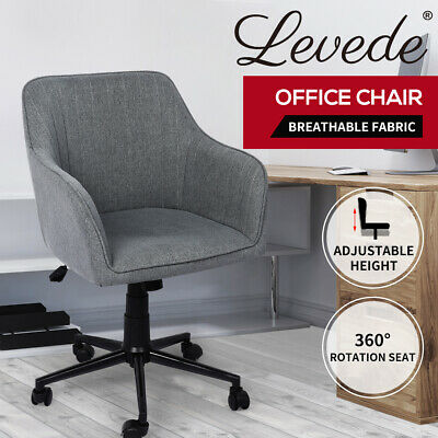 AU149.99 • Buy Levede Office Chair Fabric Computer Gaming Chairs Executive Adjustable Seat Grey