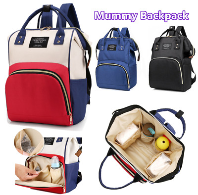 £9.95 • Buy Baby Diaper Nappy Mummy Changing Bag Backpack Set Multi-Function Hospital Bag