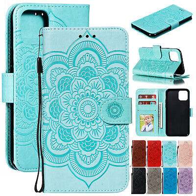 AU14.78 • Buy For IPhone 13 12 11 Pro Max XS XR X 8 7+ Embossed Leather Flip Wallet Case Cover