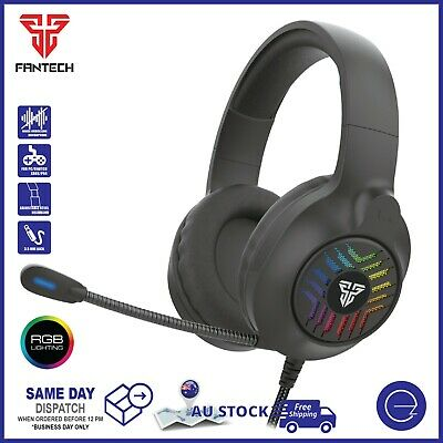 AU39 • Buy Fantech Gaming Headset 3.5mm With Noise-Cancelling Mic For PC Xbox PS4 Switch
