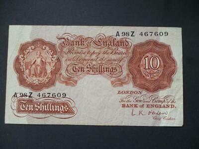 £10 • Buy 1955 L.k.o'brien Ten Shilling Note Good Used Condition, Duggleby Ref B271