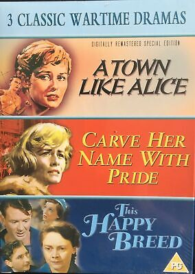 £10.95 • Buy  A Town Like Alice / Carve Her Name With Pride / This Happy Breed - New DVD Set.