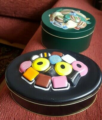 £8.95 • Buy Collectable M&S Sweet Tins - Liqorice All Sorts And Toffees
