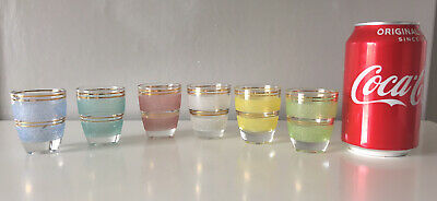 £25 • Buy Vintage Harlequin Small Glasses Multicoloured And Sugar Frosted