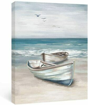 £29.99 • Buy Boat Wall Art Beach Canvas Paintings Sea Framed Pictures For Bathroom 40x60cm
