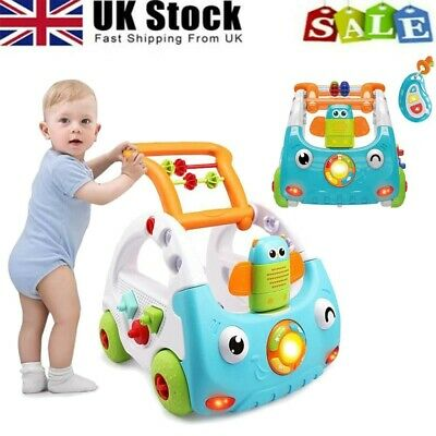 £31.98 • Buy 3-in-1 Baby Walker Kid Toddler Learning First Step Push Ride-On Car W/Music Toy