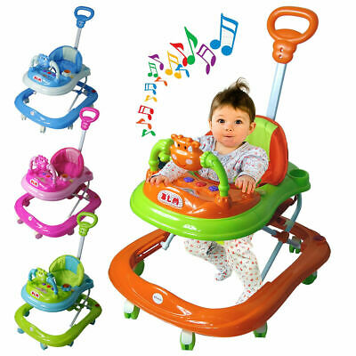 £40.89 • Buy First Steps Baby Walker Push Along Bouncer Activity Music Ride On Car Melody UK