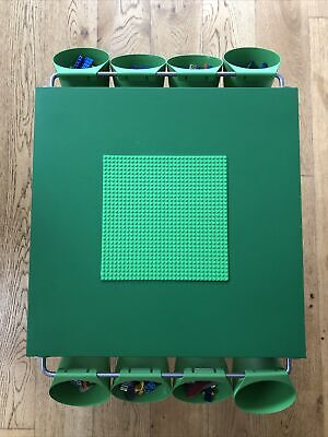 £39.95 • Buy Lego Table Brand New Blue And Green Base Plate Organised Lego Play Set Up
