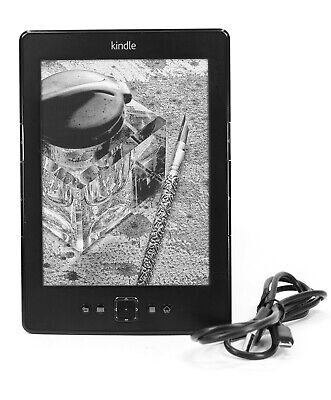 AU74.40 • Buy Amazon Kindle Model D01100 4th Generation 2GB Wi-Fi 6 Inch EBook Reader & Cable