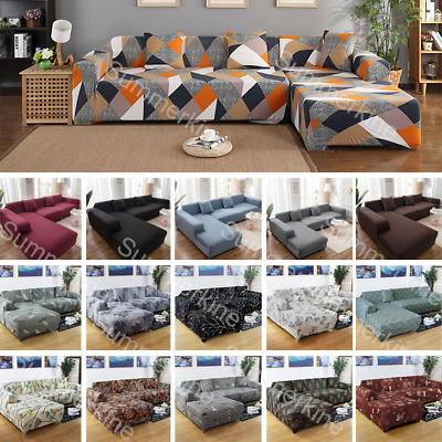 AU17.49 • Buy Sofa Covers High Stretch Lounge Slipcover Protector Couch Cover 1/2/3/4 Seater