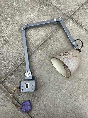 £80 • Buy Vintage Industrial MEMLITE 3 Arm Angle Poise Machinist Bench Light 1950's-lamp