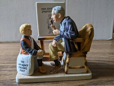 $ CDN12.45 • Buy  A Visit With Norman Rockwell  Dave Grossman Creations Figurine
