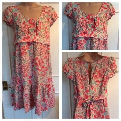 AU18.61 • Buy 100% Silk Floral Maternity Dress Size 14 New Look Summer