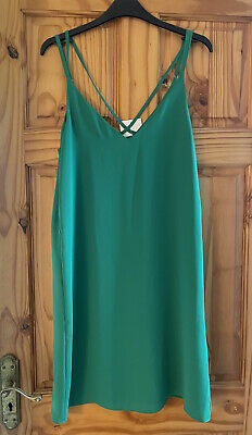 £13.50 • Buy NEW BNWT TOPSHOP Tall Size 10 Emerald Green Slip Cami Dress Lined