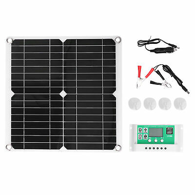 £29.66 • Buy 40W 18V Monocrystalline Silicon Solar Panel With 10A Solar Charge Controller