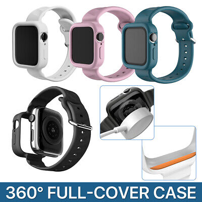 AU9.99 • Buy For Apple Watch IWatch Band Series 7 6 5 4 3 2 1 SE Shockproof Bumper Full Case