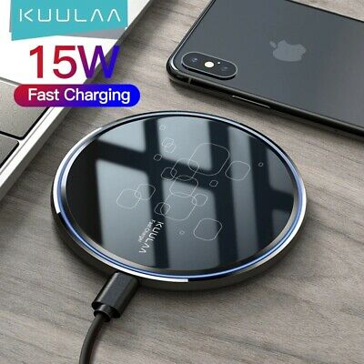 AU22.50 • Buy Qi Wireless Charger FAST Charging Pad For IPhone 12 11 Pro And Samsung S21 Ultra