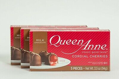 $16 • Buy Chocolate Covered Cherries Queen Anne Cordial Cherries 3 BOXES - Exp March 2022