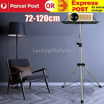 AU39.85 • Buy Projector Tripod Stand Steel Adjustable For Laptop With Tray 72-120cm Height