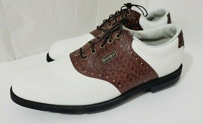 $89.99 • Buy FootJoy Dryjoys Golf Shoes Brown Crocs 8.5M Style #53415 Ships Free W/BUY IT NOW