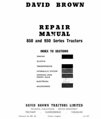 £18.50 • Buy David Brown 850 880 950 990 Implematic Tractor Workshop Service Manual (0005)