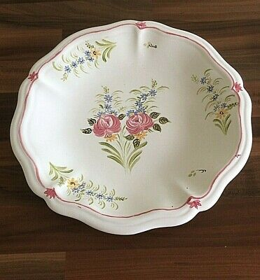 £12 • Buy Vintage French Hand Painted Ceramic Plate Circa 1940