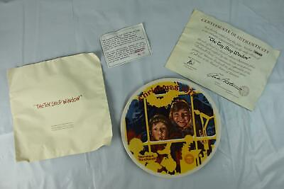 $ CDN56.65 • Buy Vintage Norman Rockwell Collector Plate The Toy Shop Window Christmas 1977 NEW