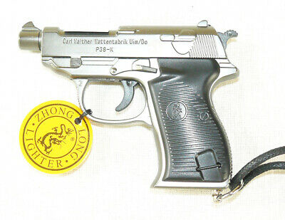 £20.36 • Buy New Souvenir Jet Flame Pistol Gun Compact Gas Lighter  Walther P38-K  With Laser