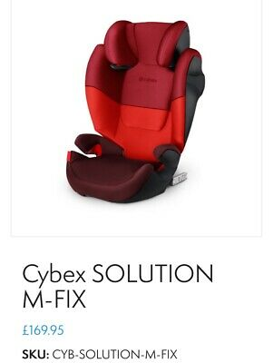£72 • Buy CYBEX Solution M-Fix Highback Booster Car Seat (Rumba Red) Group 2/3 (15kg-36kg)