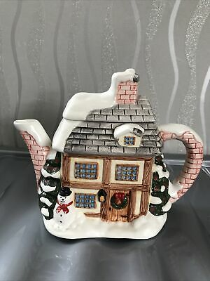 £5 • Buy Winter Cottage Teapot By Annie Rowe