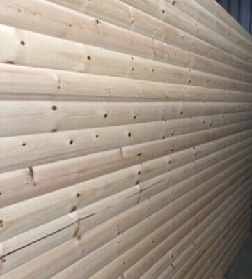£12.60 • Buy Log Lap Timber Pine T&G Log Cladding Board - Shed / Summer House 4.2m - NEW