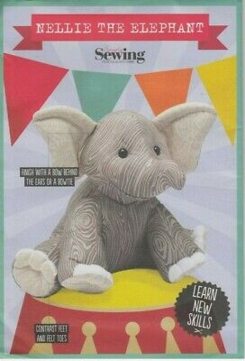 £5.50 • Buy Sewing Pattern Simply Sewing Nellie The Elephant Animal Soft Toy New