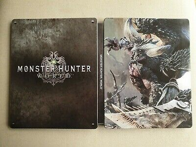 AU50 • Buy Monster Hunter World (PS4) Steelbook Collector Edition Metal Case 🇦🇺 Preowned